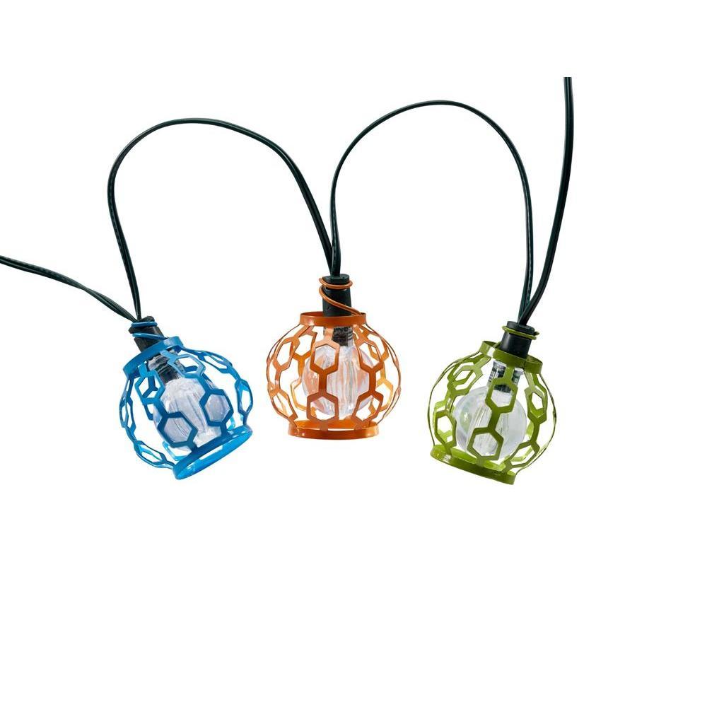 Gala Lantern Solar Integrated LED String Light Set with Stake (20-Piece)