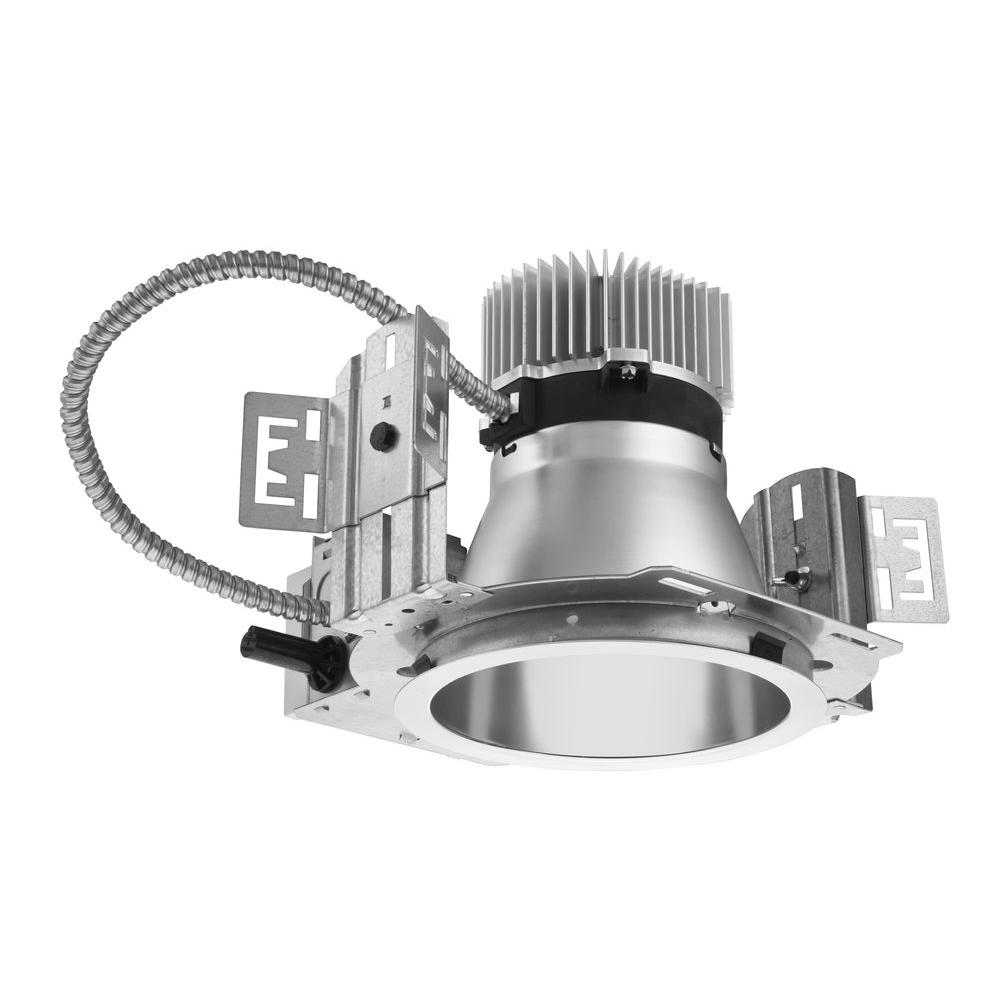 Lithonia Lighting 6 In Recessed Silver Led New Construction Commercial Downlight Housing