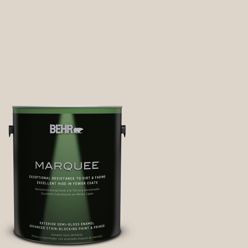 1-gal. #OR-W6 Coconut Ice Semi-Gloss Enamel Exterior Paint
