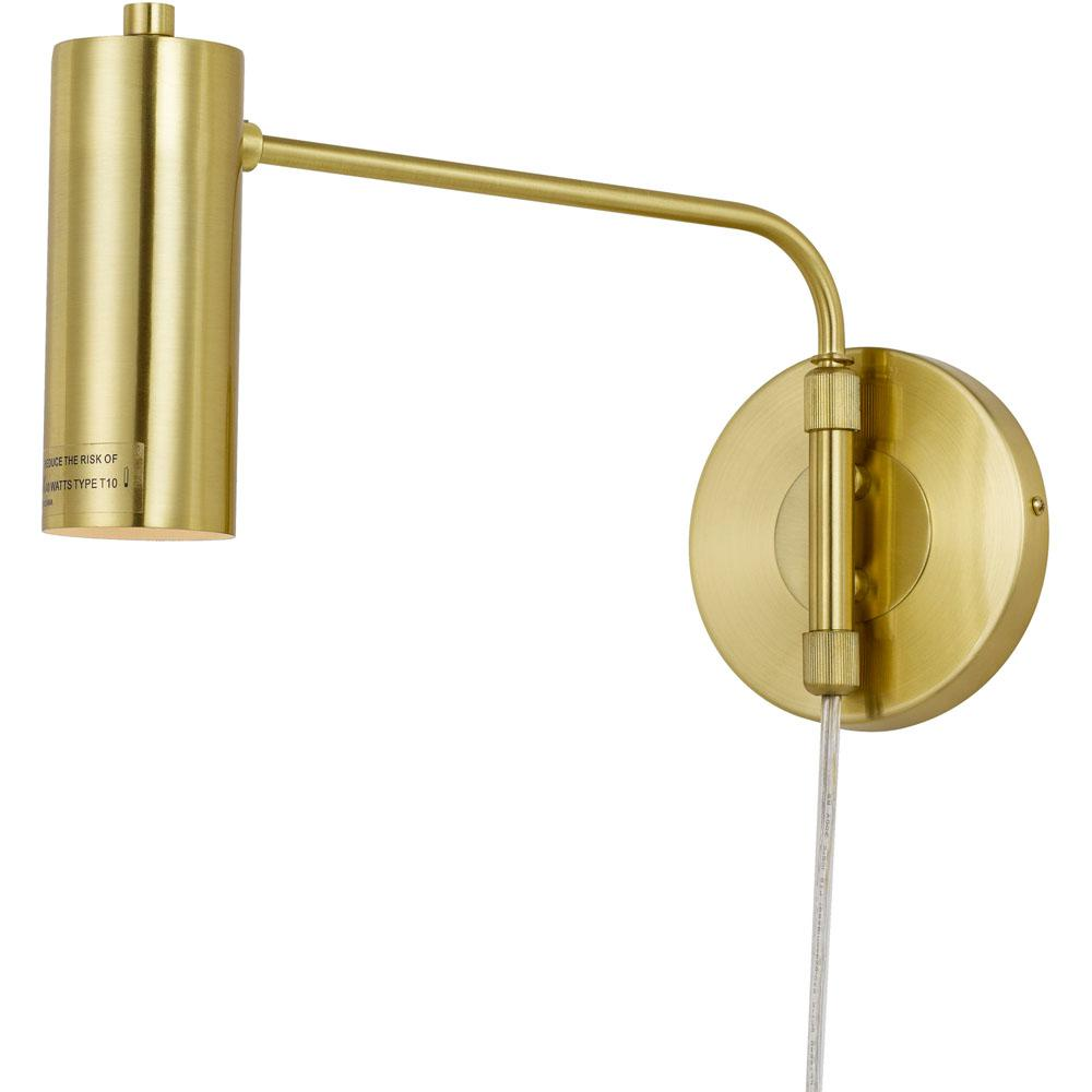 Af lighting aurelian 1 light gold wall sconce