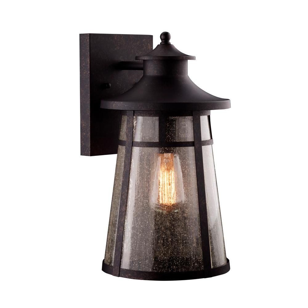 Ezekiel 1-Light Bronze Outdoor Wall Mount Sconce