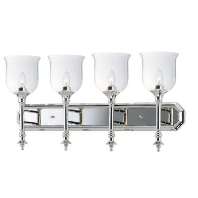 Centennial 30 in. Wide 4-Light Polished Nickel Vanity Light