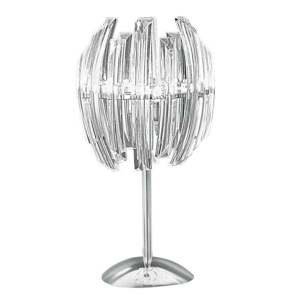 Eglo Drifter 17 in. 3/8 2-Light Chrome Table Lamp