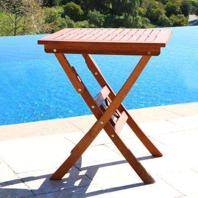 Roch Eucalyptus Folding Patio Bistro Table