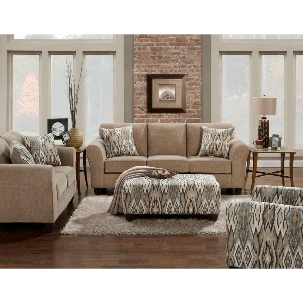 Cambridge Haverhill 2-Piece Tan Living Room Set with Sofa and ...