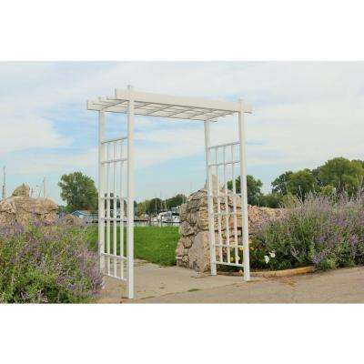 72 in. W x 85 in. H x 28 in. D Outside Dimensions Bakersfield Arbor