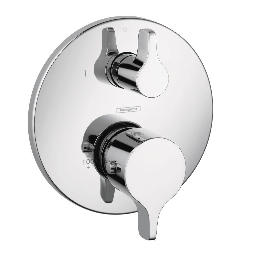 hansgrohe shower valve. Hansgrohe Metris S/E 2-Handle Thermostatic Valve Trim Kit With Volume Control And Shower E