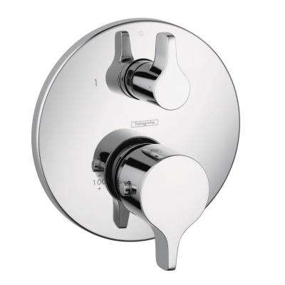 Metris S/E 2-Handle Thermostatic Valve Trim Kit with Volume Control and Diverter in Chrome (Valve Not Included)