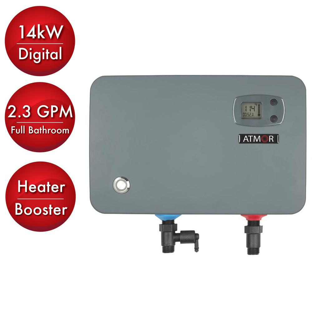 atmor 14 kw240volt 23 gpm electric tankless water heater on demand