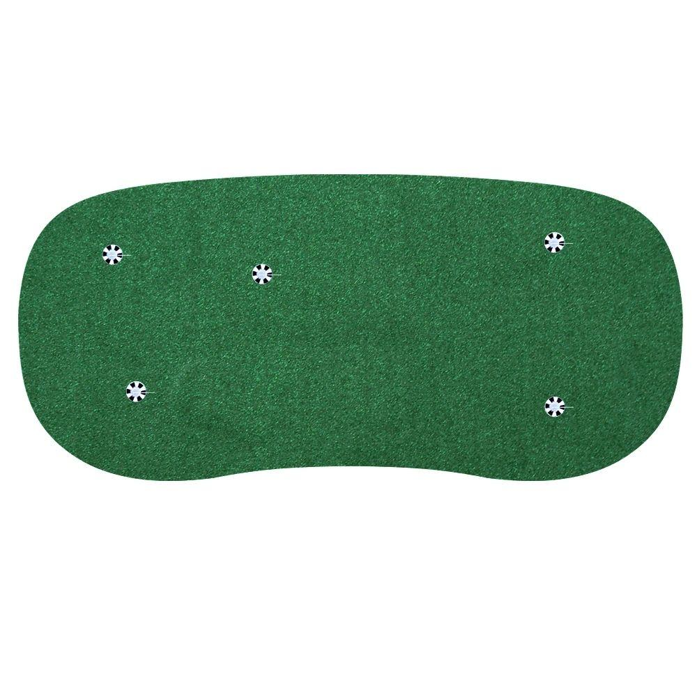 StarPro Greens 6 ft. x 12 ft. Indoor/Outdoor Synthetic Turf 5-Hole Practice Putting Golf Green