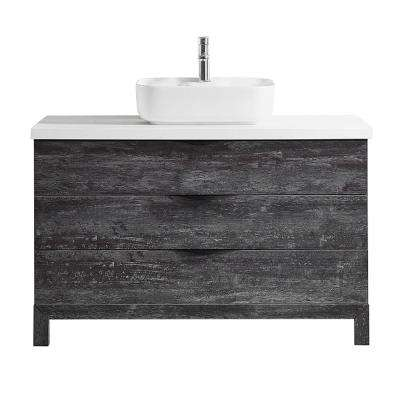 Spencer 48 in. W x 20 in. D Bath Vanity in Grey with Quartz Vanity Top in White with White Basin