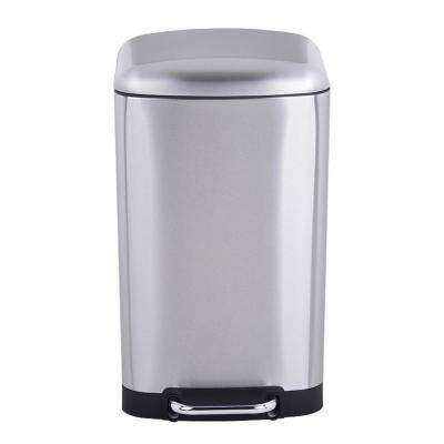 Utopia Alley Slow Close Trash Can, 30 L, Stainless Steel
