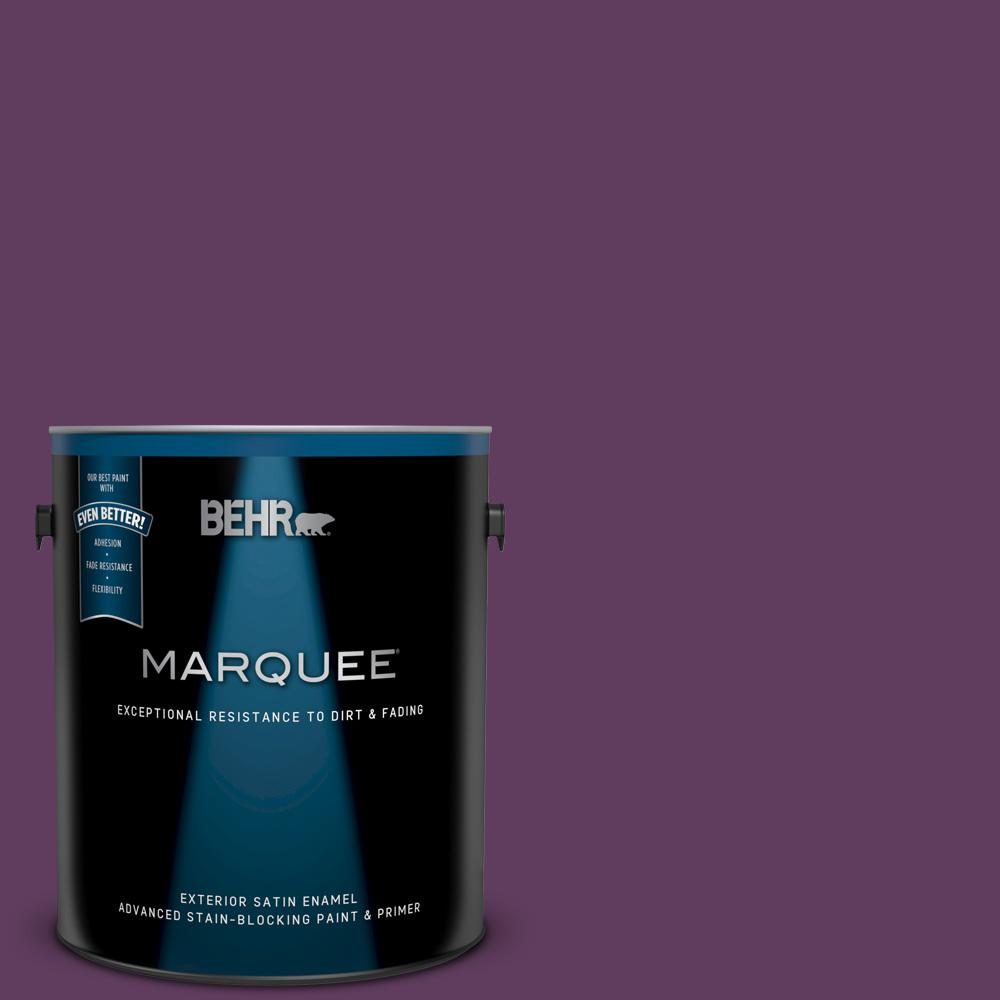 Behr Marquee 1 Gal Mq5 35 Plum Rich Satin Enamel Exterior Paint And Primer In One 945301 The Home Depot