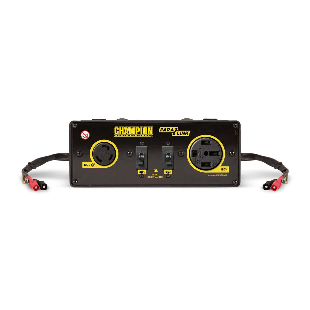 CHAMPION POWER EQUIPMENT 2800-Watt and Higher 50 Amp RV Ready Clip-on Parallel Kit for Linking Inverter Generators