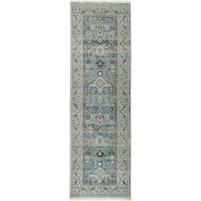 Ridgefield Blue/Ivory 2 ft. 2 in. x 7 ft. 2 in. Indoor Runner