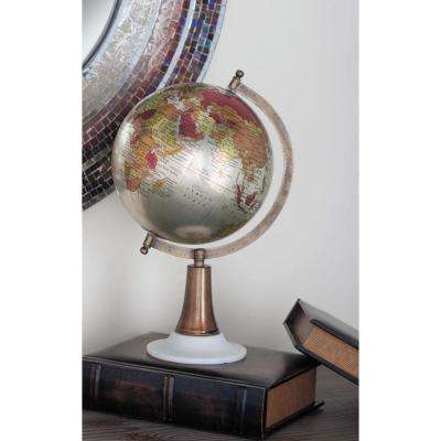 15 in. x 8 in. Modern Decorative Globe in Bronze