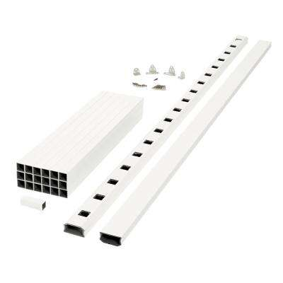 Regency 8 ft. x 3 ft. White Capped Composite Rail Section With Composite Balusters