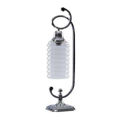 25 in. Chrome Metal Accent Lamp