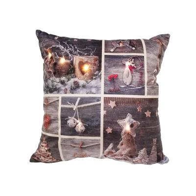 LED Christmas Patchwork Standard Pillow