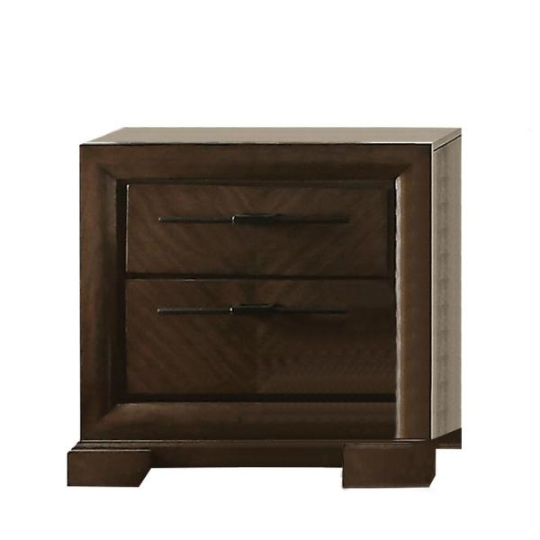 Amelia 18 in. x 28 in. x 26 in. Tobacco Wood Nightstand (2-Drawer)