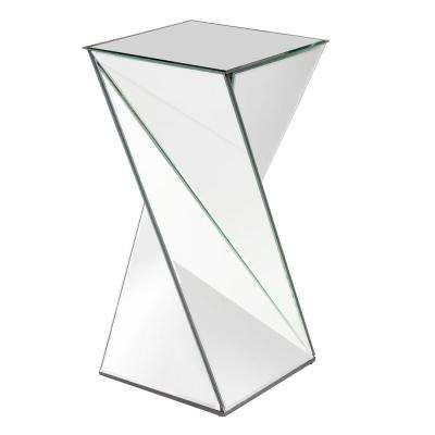 Aries Mirrored End Table