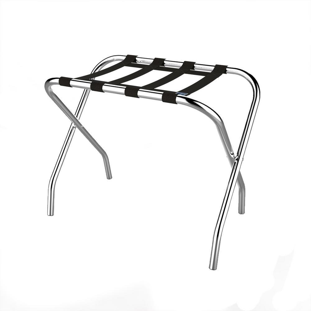 Lavish Home 14.9 in. x 26 in. Chrome Luggage Garment Rack