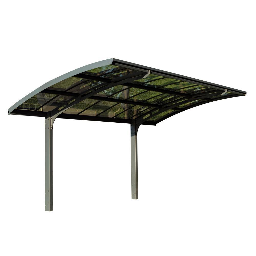 Arizona 5000 Breeze Carport with Solid Solar Grey Polycarbonate Roof