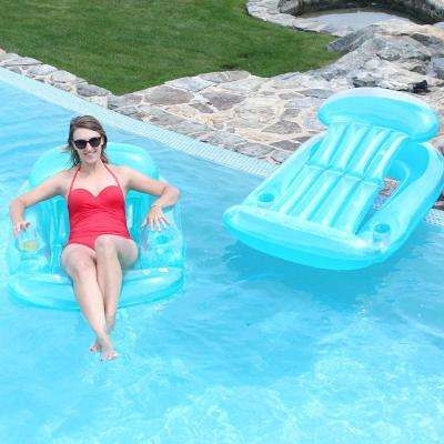 Teal Pool Sun Lounge 2-Pack