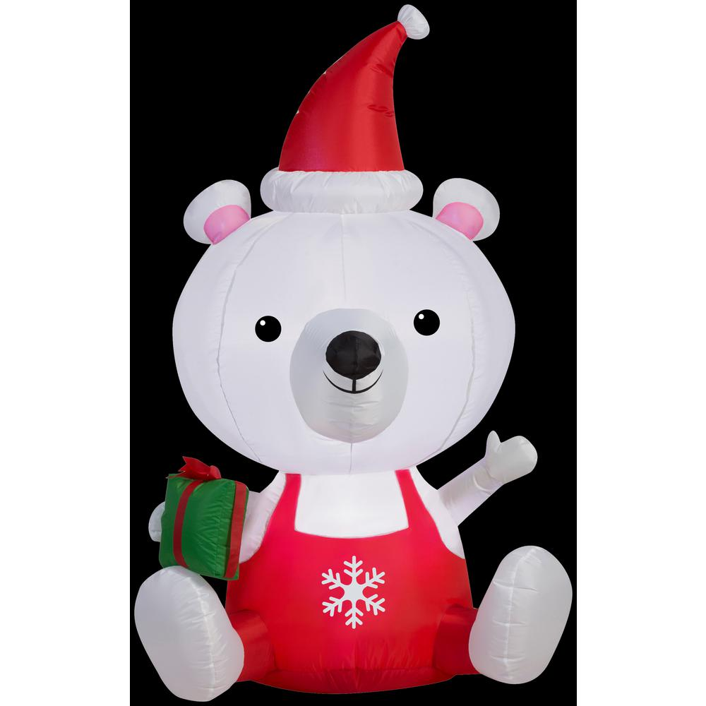 Cand Christmas Inflatable Polar Bear | www.topsimages.com