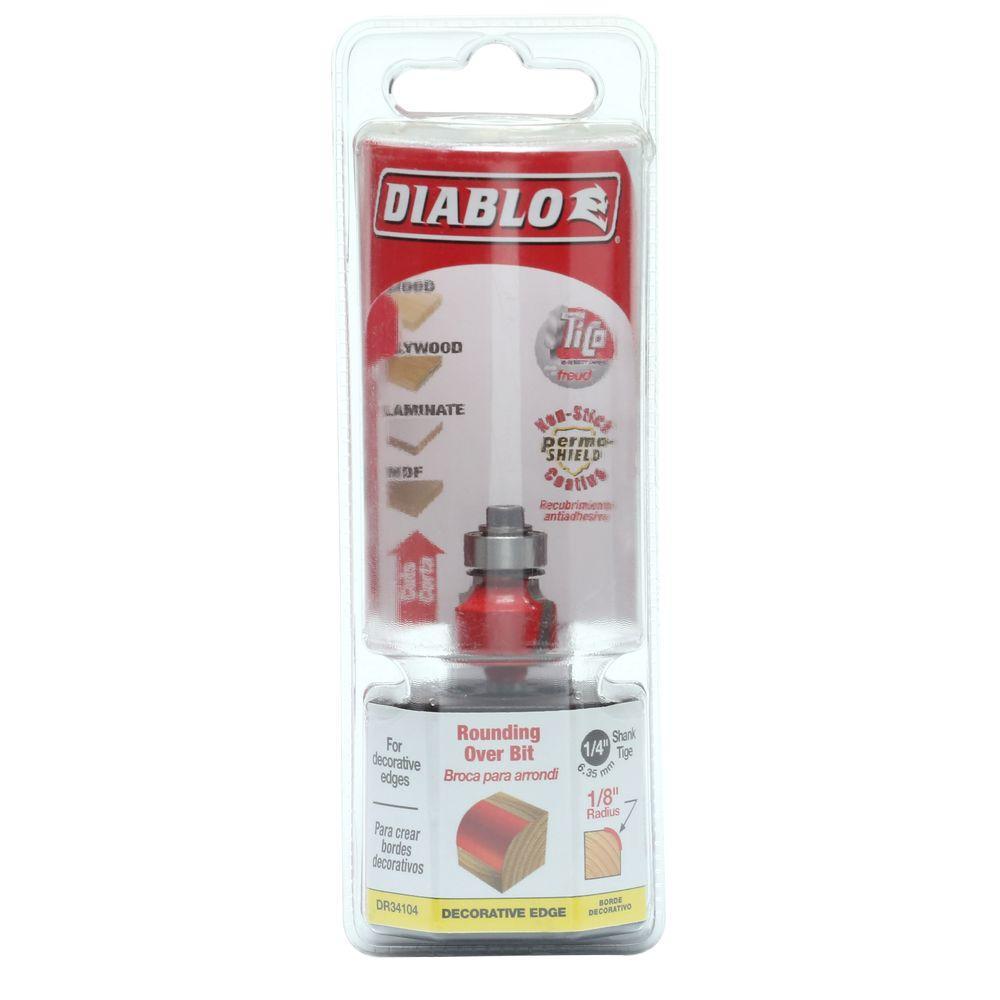 Diablo 1/8 inch Carbide Rounding Over Router Bit by Diablo