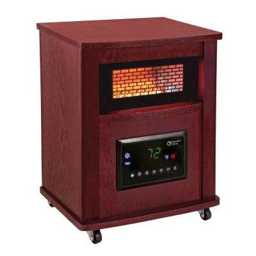 16 in. Deluxe Infrared Quartz Heater, Cherry