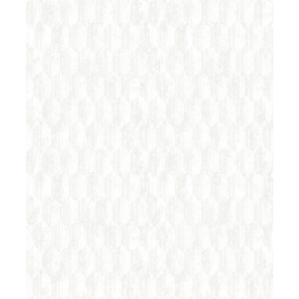 Decorline Kendall Ivory Geometric Wallpaper Sample