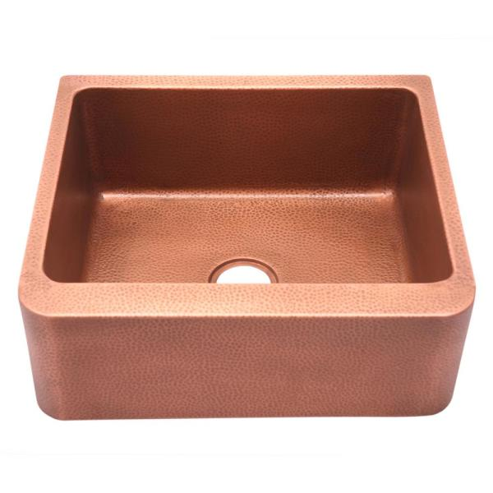 Avena Farmhouse Apron Front Copper 25 in. Single Bowl Kitchen Sink