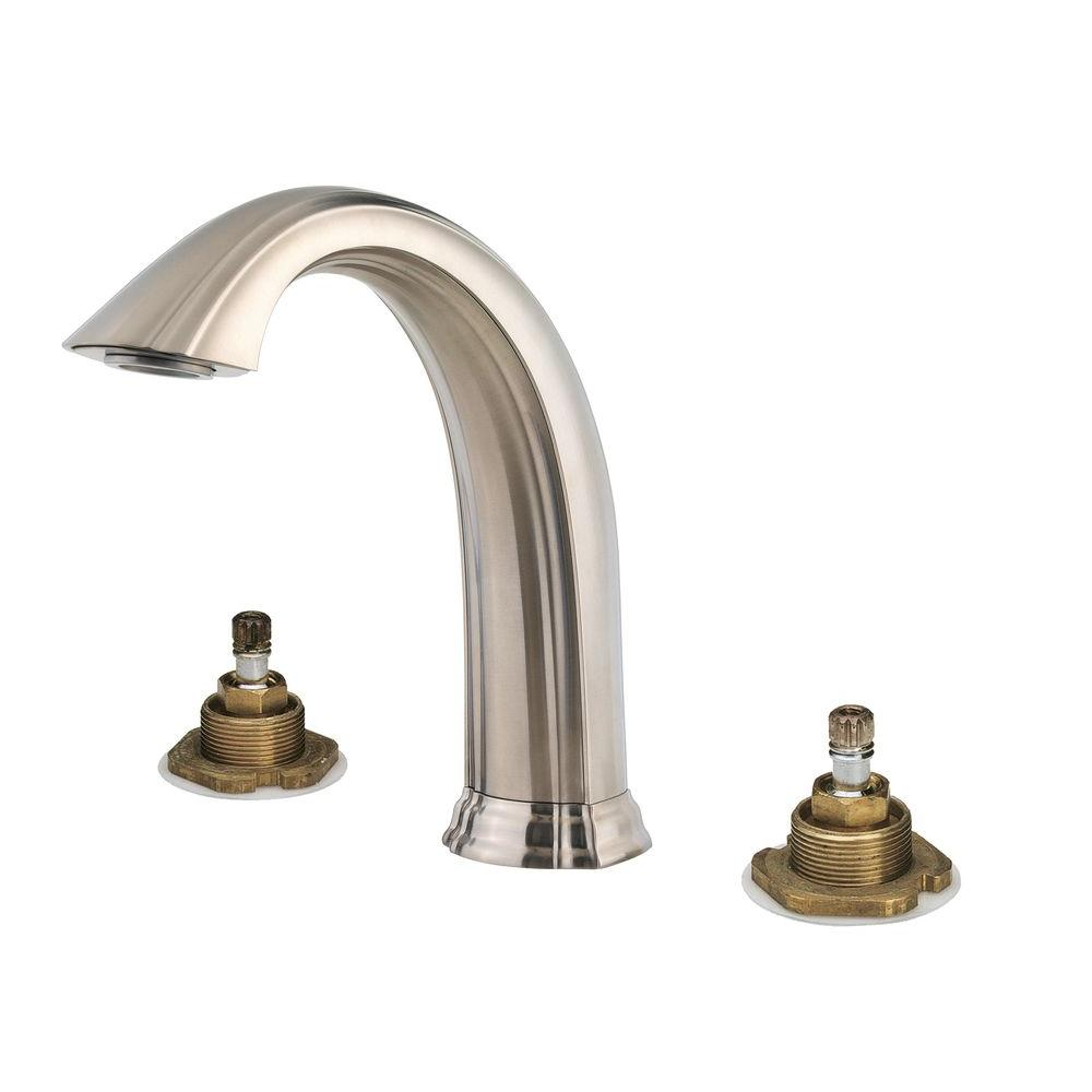 High Quality Pfister Santiago 2 Handle High Arc Deck Mount Roman Tub Faucet Trim Kit In  Tuscan Bronze (Valve Not Included) RT6 5STY   The Home Depot