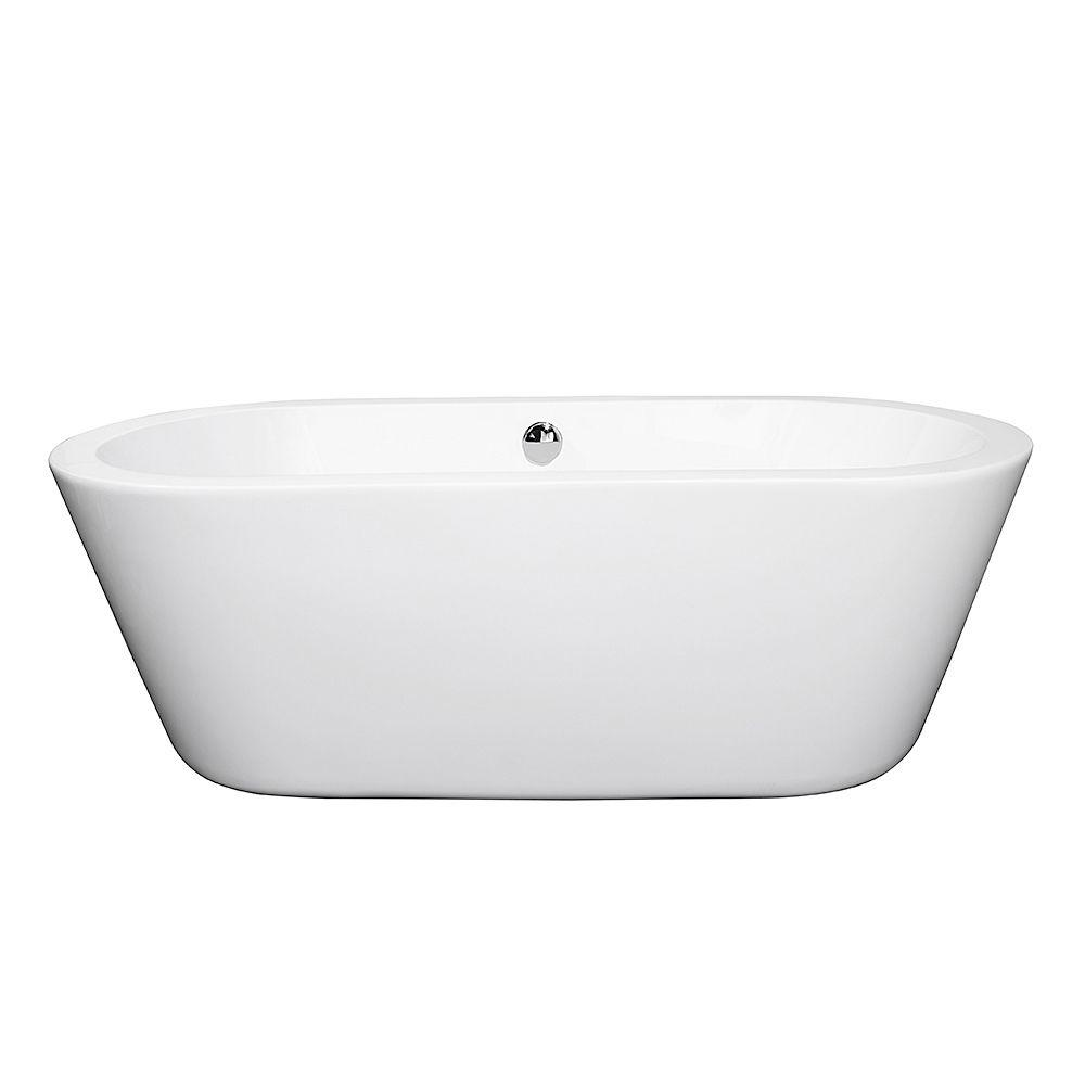 Wyndham Collection Mermaid 5.58 ft. Center Drain Soaking Tub in ...