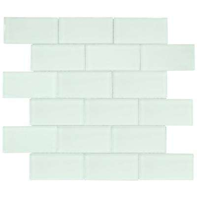 Siberian Gloss 11.625 in. x 11.75 in. x 8 mm Glass Mosaic Tile