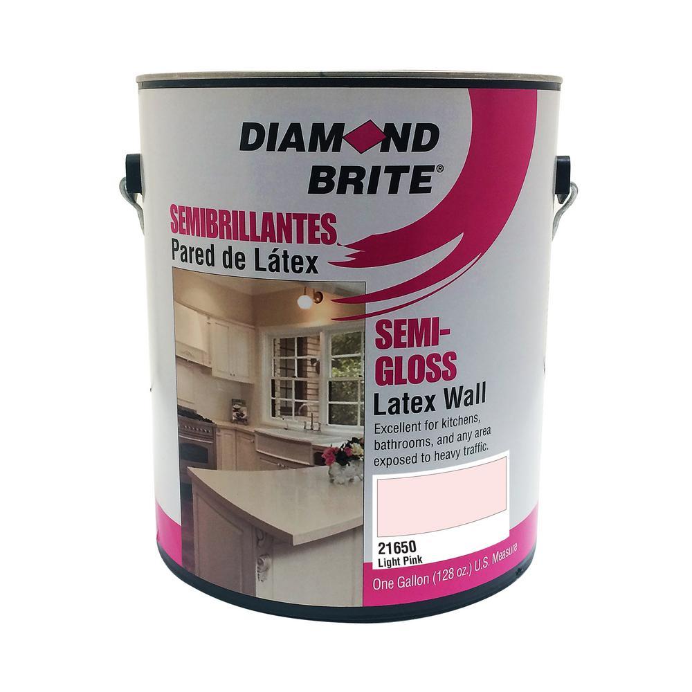 1 gal. Light Pink Semi-Gloss Latex Interior Paint