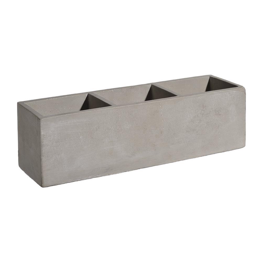 Unbranded Tuscan 12 in. Concrete Trio Planter-HD1147-102 ...