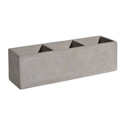 Tuscan 12 in. Concrete Trio Planter