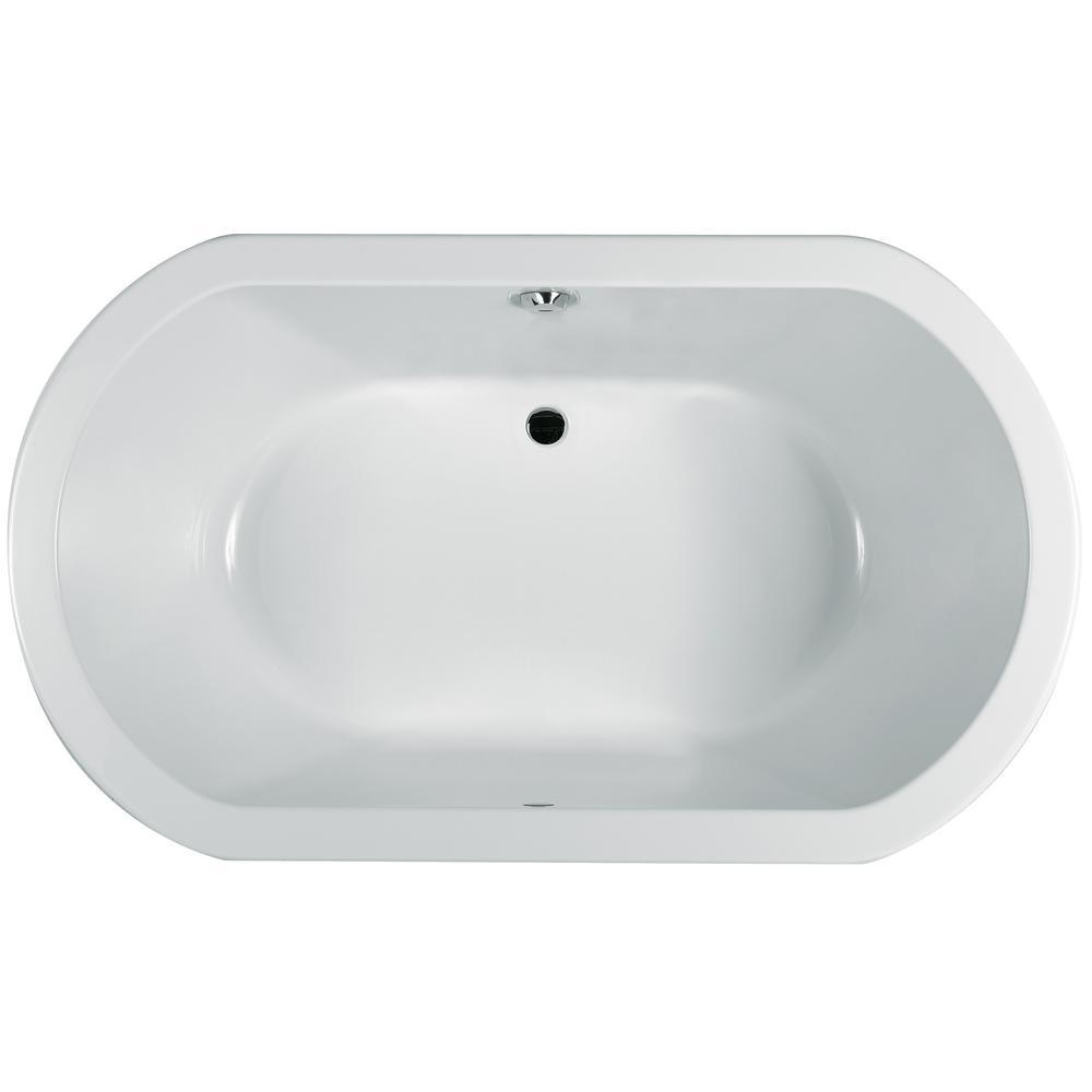 Jacuzzi Anza Acrylic Oval Center Drain Soakin Bathtub Chroma