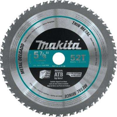 5-7/8 in. 52-Teeth Thin Metal Carbide-Tipped Saw Blade