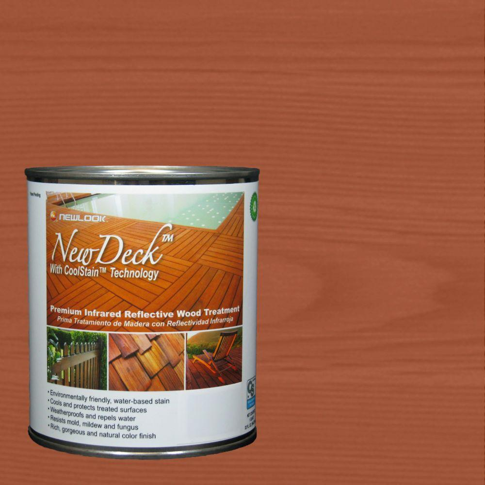 NewDeck 1 qt. Water-Based Summerwood Infrared Reflective Wood Stain