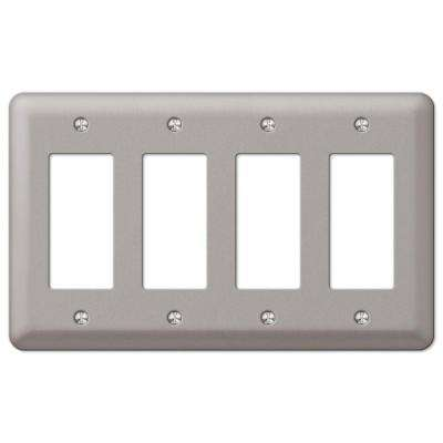 Decorator 4 Steel Wall Plate - Pewter