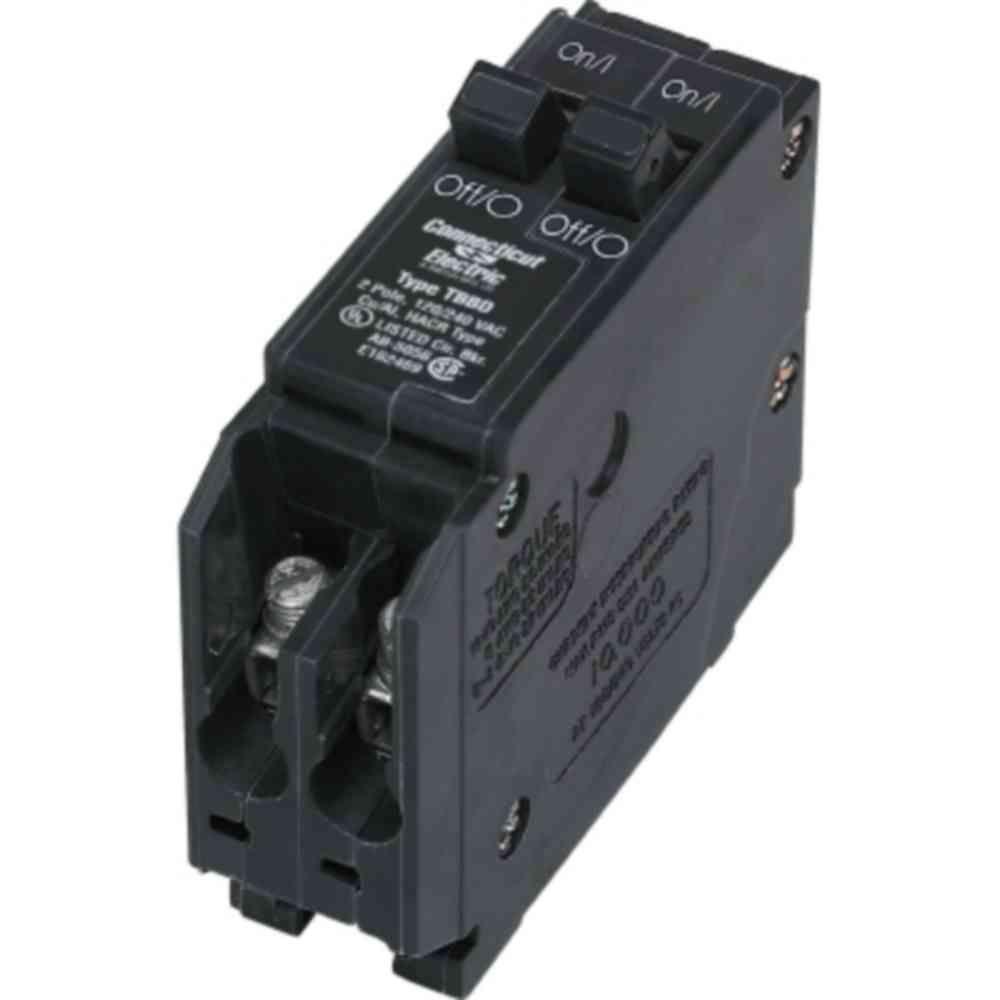 15-Amp Twin Single-Pole Circuit Breaker