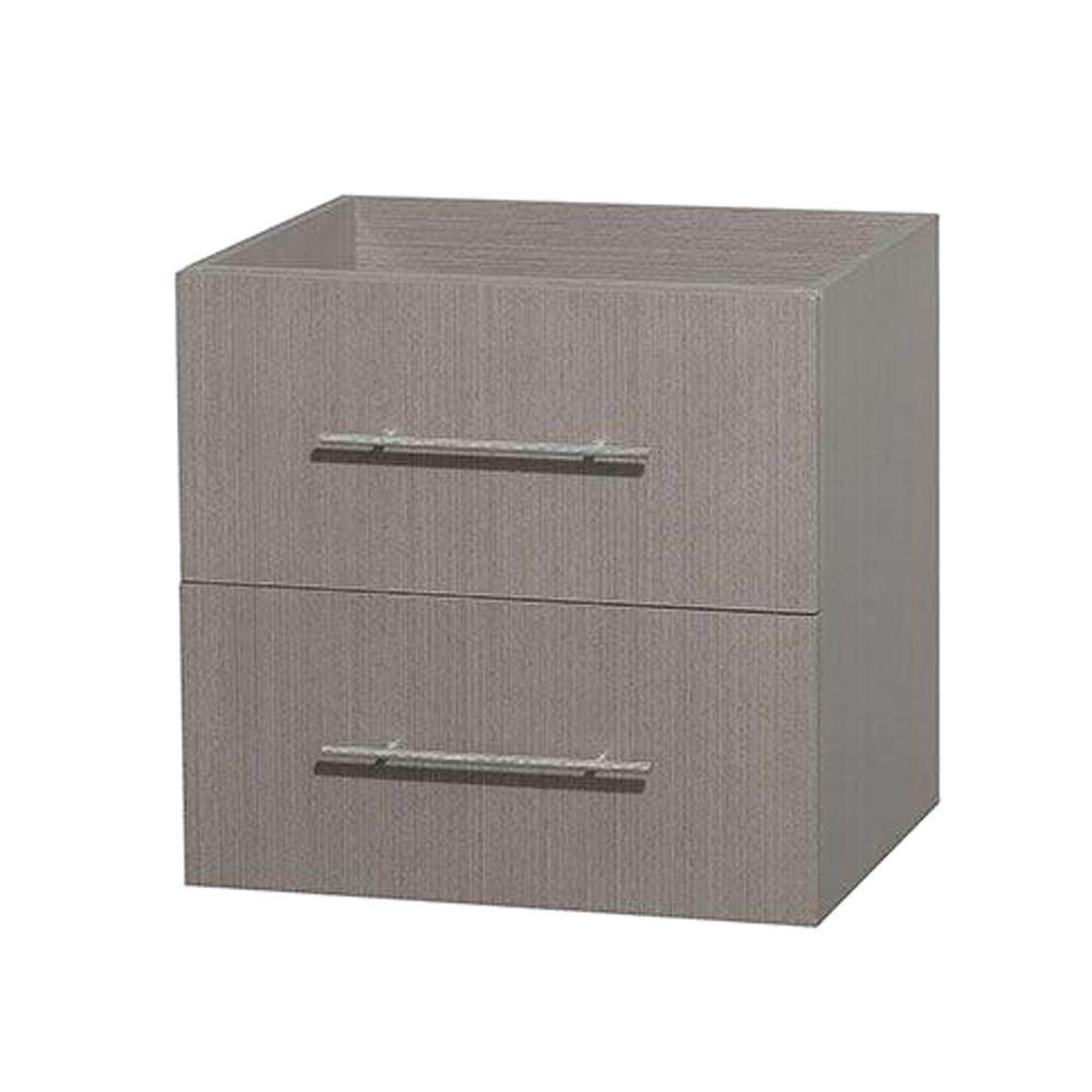 Wyndham Collection Centra 23 in. Vanity Cabinet Only in Gray Oak