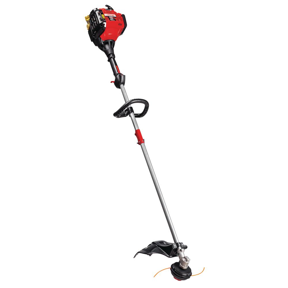 Troy-Bilt 30 cc 4-Cycle Straight Shaft Attachment Capable Gas Trimmer with  JumpStart Capabilities