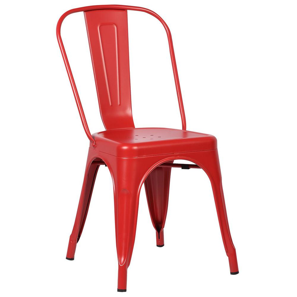Poly and Bark Poly and Bark Trattoria Red Side Chair