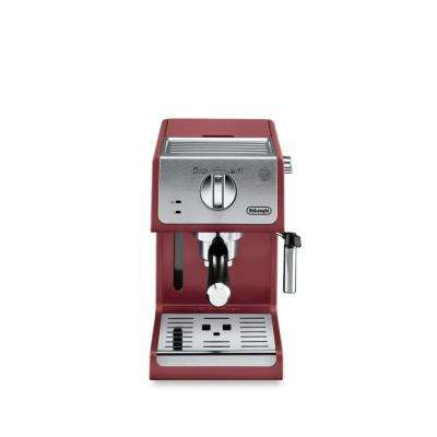 ECP3220R 15 Bar Pump Espresso and Cappuccino Machine with Integrated Frothing Wand, Red