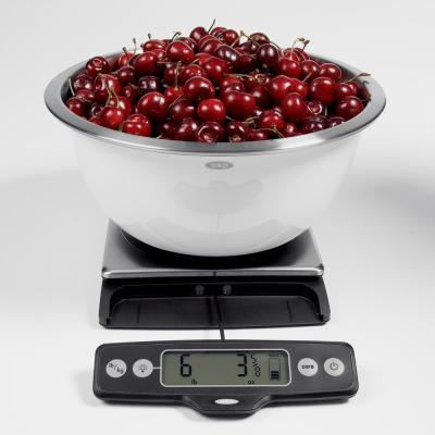 Good Grips Stainless Steel 11 lb. Pull-Out Display Food Scale