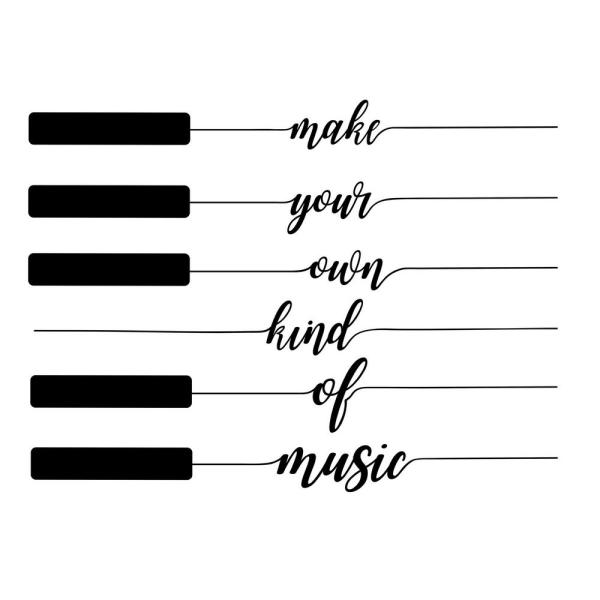 WallPOPs Black Own Kind of Music Decal Wall Art Kit